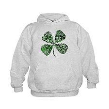 Extra Lucky Four Leaf Clover Hoodie