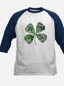 Extra Lucky Four Leaf Clover Kids Baseball Jersey