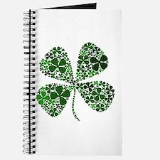 Extra Lucky Four Leaf Clover Journal