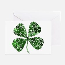 Extra Lucky Four Leaf Clover Greeting Cards (Pk of