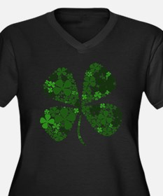Extra Lucky Four Leaf Clover Women's Plus Size V-N