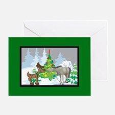 Reindeer and Horse Christmas Greeting Card