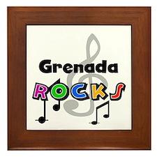 Grenada Rocks Framed Tile