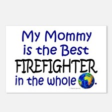 Best Firefighter In The World (Mommy) Postcards (P