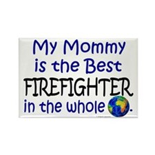 Best Firefighter In The World (Mommy) Rectangle Ma