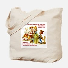 PAINTING THE QUEEN'S ROSES Tote Bag