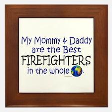 Best Firefighters In The World Framed Tile