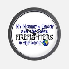 Best Firefighters In The World Wall Clock