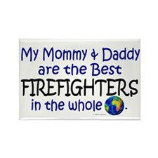Best Firefighters In The World Rectangle Magnet