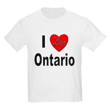 I Love Ontario (Front) Kids T-Shirt