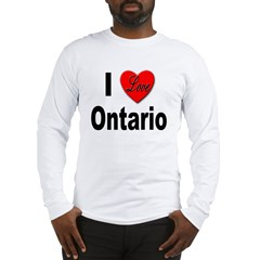 I Love Ontario (Front) Long Sleeve T-Shirt