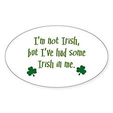 Irish In Me Oval Decal