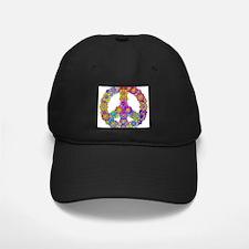 Flower Power Peace Symbol Baseball Hat