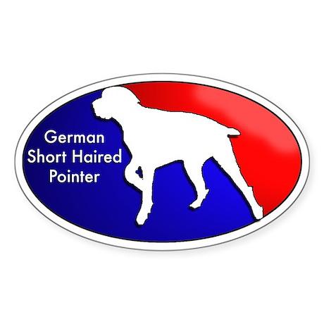 German Short Haired Pointer Oval Sticker
