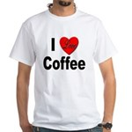 I Love Coffee (Front) White T-Shirt