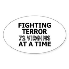 72 Virgins Fighting Terror Oval Decal