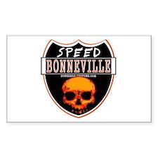 SPEED BONNEVILLE Rectangle Decal