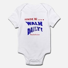 Cool New year resolutions Infant Bodysuit