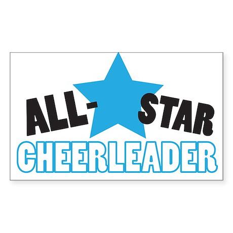 All-Star Cheerleader Rectangle Sticker