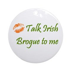 Irish Brogue Ornament (Round)
