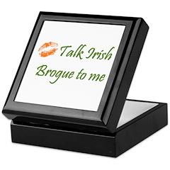 Irish Brogue Keepsake Box