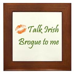 Irish Brogue Framed Tile