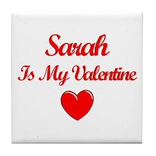 SarahIs My Valentine Tile Coaster