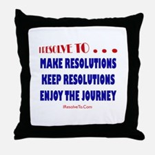 Unique New year resolution Throw Pillow