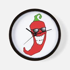 Cool Chili Pepper Wall Clock