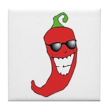 Cool Chili Pepper Tile Coaster