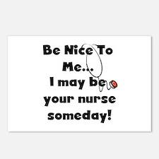 Nurse-Be Nice to Me Postcards (Package of 8)