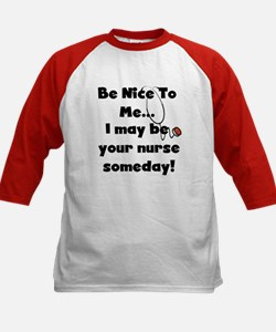 Nurse-Be Nice to Me Kids Baseball Jersey