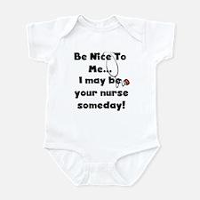 Nurse-Be Nice to Me Infant Bodysuit