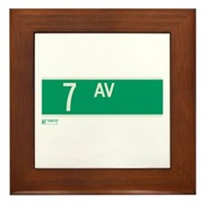 7th Avenue in NY Framed Tile