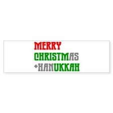 """""""Merry Christmukkah"""" Bumper Bumper Sticker"""