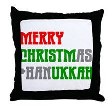 """""""Merry Christmukkah"""" Throw Pillow"""