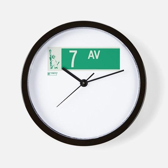 7th Avenue in NY Wall Clock