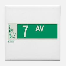 7th Avenue in NY Tile Coaster