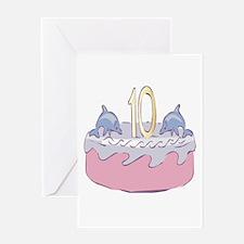 Tenth (10th) Birthday Greeting Card