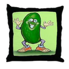 Cute Pickle Throw Pillow