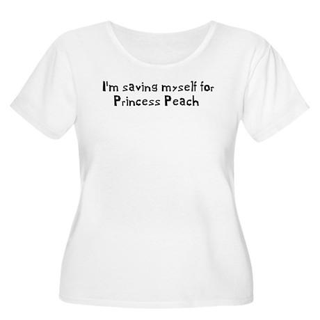 Saving Myself For Peach Women's Plus Size Scoop Ne