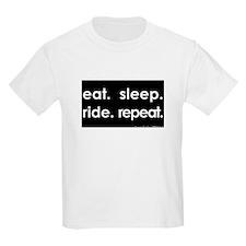 eat. sleep. ride. repeat. - kids light tee