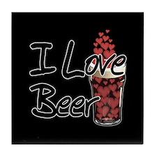 I Love Beer v2 Tile Coaster