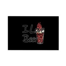I Love Beer v2 Rectangle Magnet
