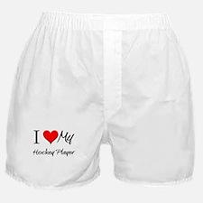 I Heart My Hockey Player Boxer Shorts