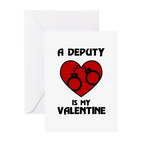 Deputy Valentine Greeting Card