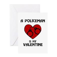 Policeman Valentine Greeting Card