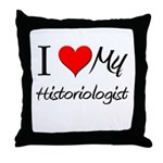I Heart My Historiologist Throw Pillow
