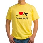 I Heart My Historiologist Yellow T-Shirt
