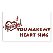 Heart Song Valentine Rectangle Decal